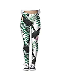 Toucan And Palm Tree Yoga Pants Workout Running Yoga Leggings For Women Girls