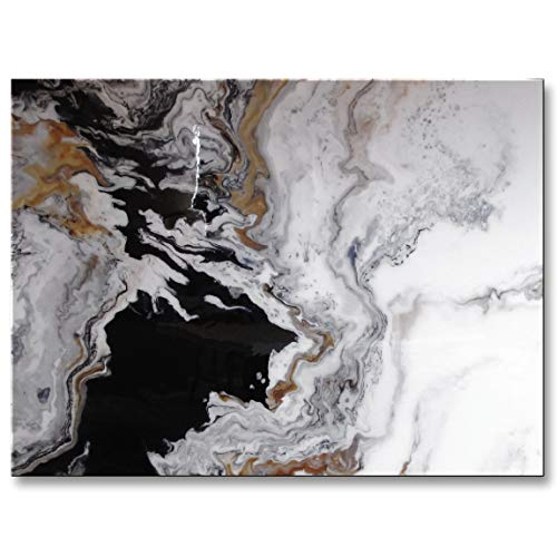 Eloise World Studio - ELOISExxx Abstract Modern Canvas Painting Limited Edition Giclee Contemporary Wall Art Framed 48 x 36 x 1.5 inch Resin Coated