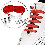 UPRA No Tie Elastic Shoelaces for Sneakers, Quick Tieless Running Shoe Laces for for Men, Women, Adults, Seniors & Kids (Red)