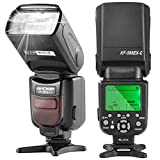 Speedlite Flash, K&F Concept 590C E-TTL Flash with LCD Display Wireless Slave Function for Canon DSLR Camera EOS Rebel T6i, T6s, T5i, T4,3i,T5, T3, XT, XSi, XSi, EOS 7D,5D,80D,70D,60D