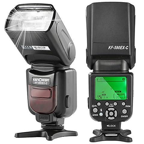 K&F Concept KF590C KF22.001 E-TTL Speedlite Flash with Wireless Slave