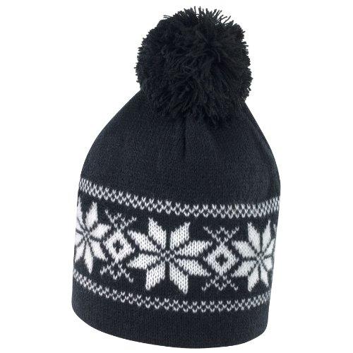 Result - Gorro de punto con dibujo para invierno Negro y blanco