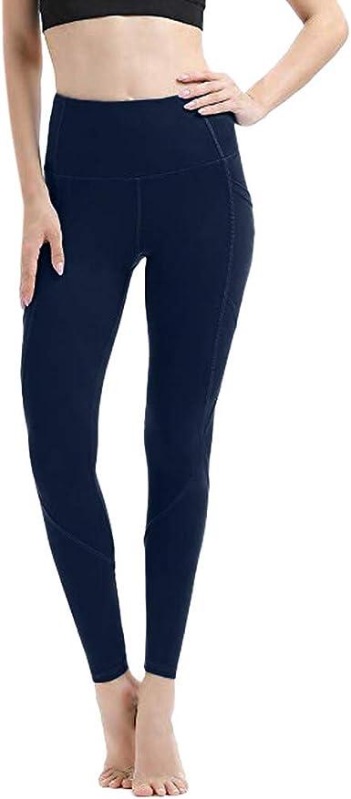 Womens Striped Stretchy Sport Yoga Ladies Leggings High Waist Gym Trousers