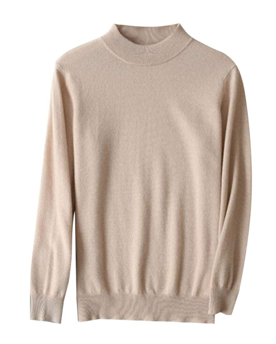 GRMO Men Pullover Turtleneck Basic Ribbed Thermal Knitted Slim Fit Sweater