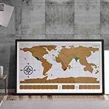 [Eutuxia] World Map (34x20 in.) - Scratch Off The Places You've Traveled