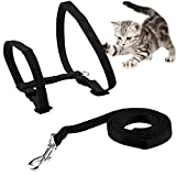ONSON Cat Harness, Adjustable Harness Nylon Strap Collar with Leash,
