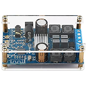 Bluetooth Amplifier Board, DROK Digital Amplifier Wireless BT 3.0/4.0/4.1 Audio Amp Board Headphone 2 Channel 50W+50W Small Amplifier Module with Protective ...