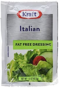 Kraft Italian Salad Dressing, Fat Free, 1.5-Ounce Packages (Pack of 60)