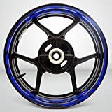 Gloss Blue Motorcycle Rim Wheel Decal Accessory