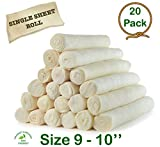 "Retriever roll 9-10"" (20 Pack) Extra Thick Cow Dog Chews"