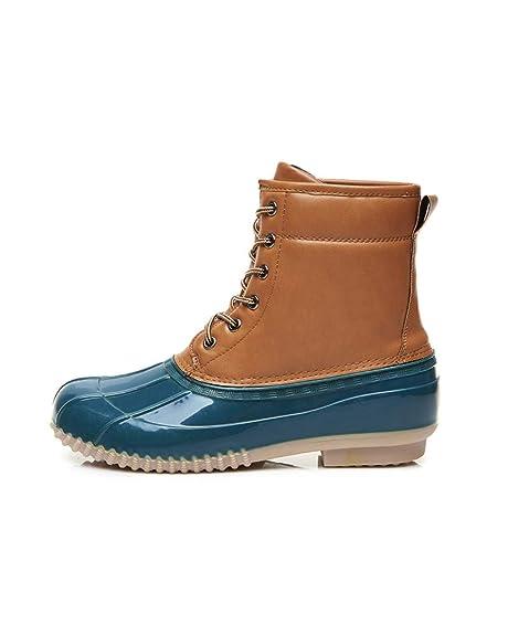 Botas Agua Cortas Goma Impermeables Botas de Lluvia para Mujer Botines Chelsea de Goma Outdoor Antideslizante: Amazon.es: Zapatos y complementos