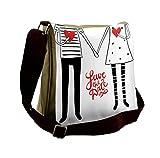 Lunarable Wedding Messenger Bag, Save the Date Lettering, Unisex Cross-body