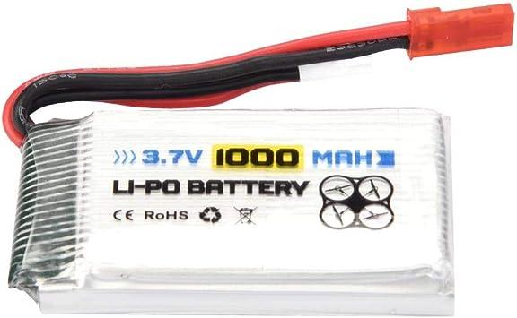 1Pc Dilwe Batterie LiPo de mod/èle RC Bateau RC Avion 3.7V 1000mAh 25C Batterie Rechargeable LiPo JST Plug pour Voiture