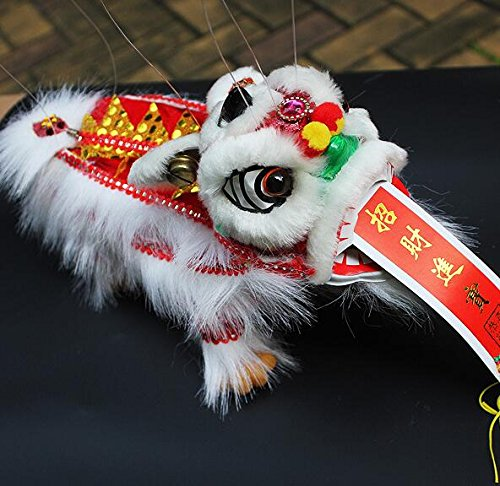 Dragon Marionette - Sparik Enjoy White Lion Marionette Style Puppet - Chinese New Year Dragon Lion - For Play or Display Any Time of Year!