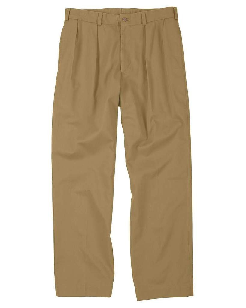 The Fine Swine Men's Bill's Khakis Original Twill M2 Pleated Pants 42 British khaki