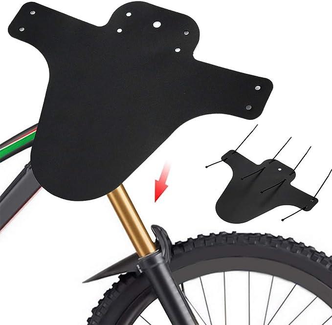 ENticerowts - Guardabarros Delantero y Trasero para Bicicleta de montaña, 2 Unidades, Peso Ligero, Color Negro, Hombre, Negro: Amazon.es: Deportes y aire libre