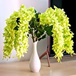 Mavee-4-Pcs-23-Hanging-Wisteria-Silk-Artificial-Flower-Bush-5-Stems-for-Home-Wedding-Restaurant-and-Office-Decoration