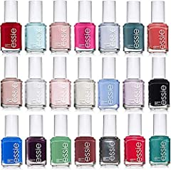 This great set includes 20 Essie Nail Polishes - .46 oz sized bottles. We'll choose 20 colors at random with no repeat shades. Photo is an example and colors will vary from the picture shown. NOTE: If more then one set is bought there is a ch...