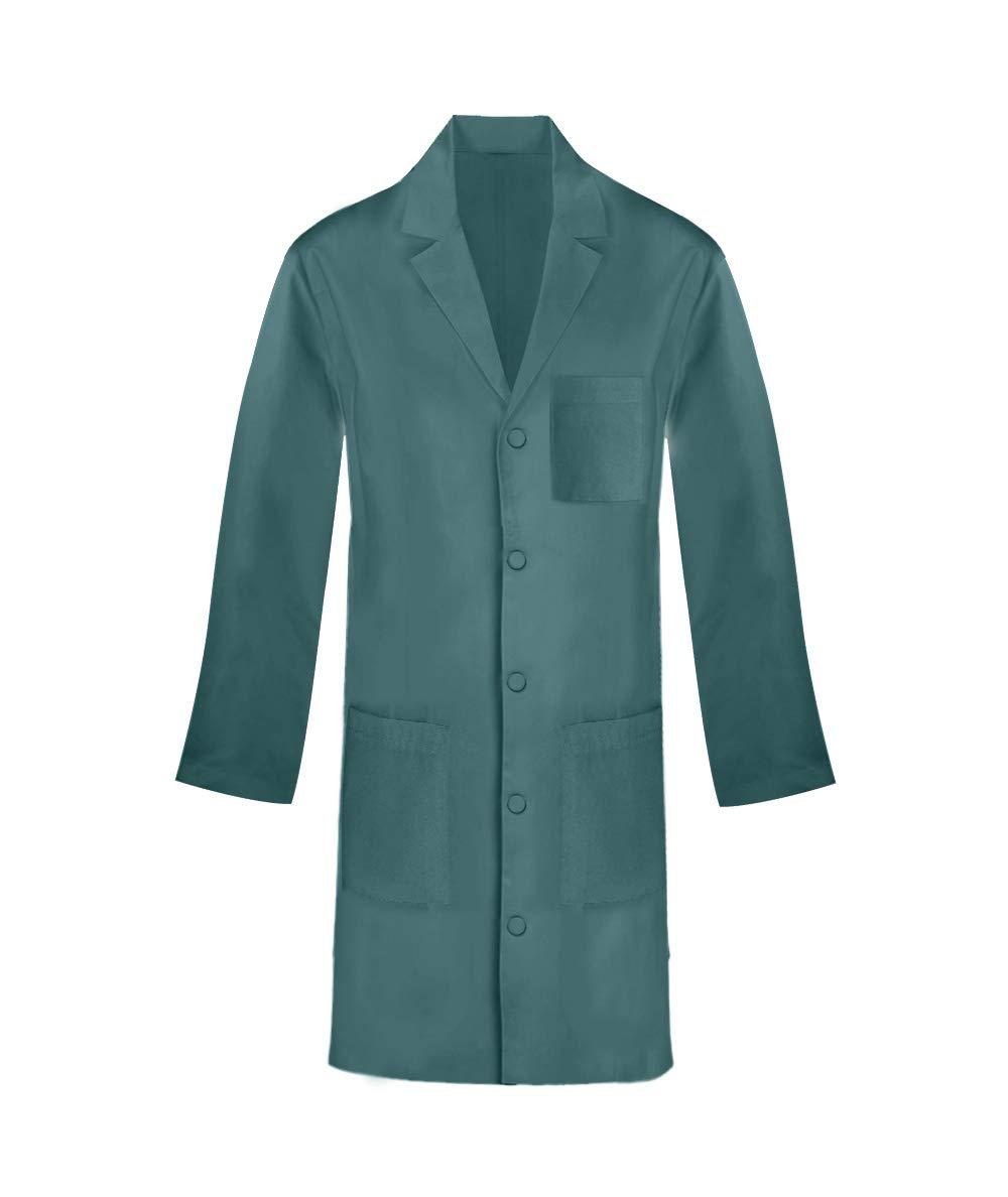 Panda Uniform Custom 40 Inch Unisex Snap Front Lab Coat-Hunter-XL