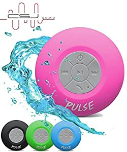 CSJ Sound Wireless Pulse Bluetooth 4.0 Waterproof Speaker - Pink