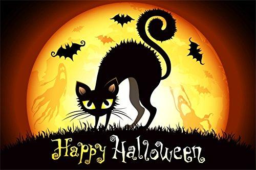 Laeacco 8x6.5ft Happy Halloween Backdrop Vinyl Alerting Creepy