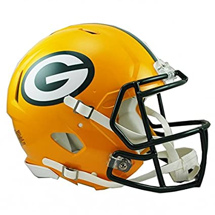 NFL verde Bay Packers oficial réplica casco – tamaño completo – Pantalla sólo