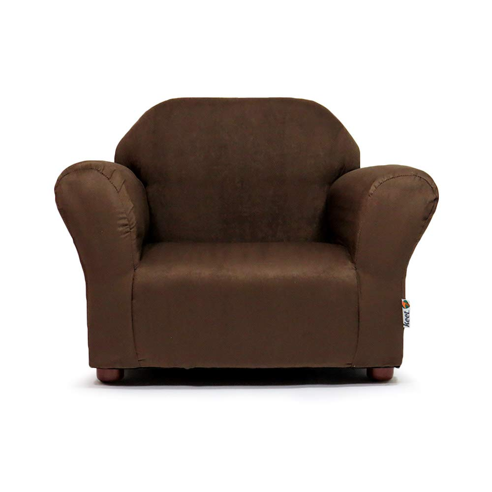 Keet Roundy Microsuede Children's Chair, Brown CR78