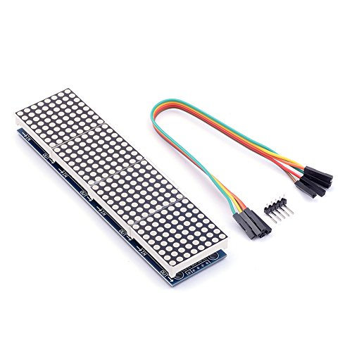 Cylewet MAX7219 Dot Matrix Module 4 in 1 Display for Arduino Microcontroller with 5Pin Line CYT1045 ()