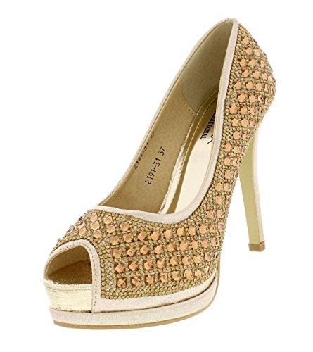 Scarpe Donna Oro Bruna International scarpe Da Festa Gribha Soiree