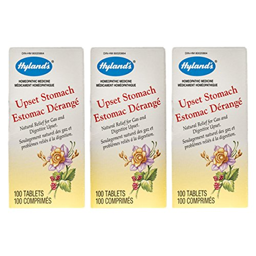 Hyland's Upset Stomach Tablets, 100 Tablets (Pack of 3) ()