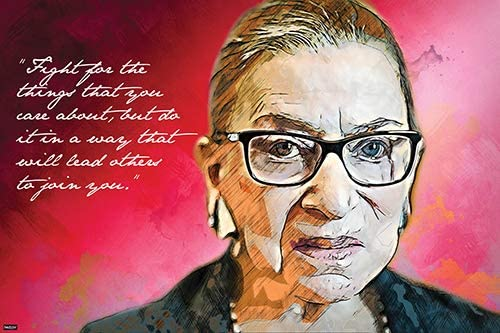 Amazon.com: Justice of The US Supreme Court Ruth Bader Ginsburg Quote  Poster 24x36 Home Decor Print - 24x36: Posters & Prints