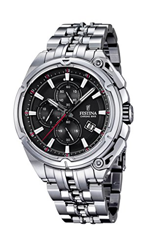 Festina F16881-4 Mens 2015 Chrono Bike Tour De France Silver Watch