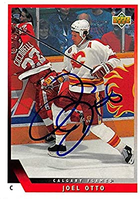 Joel Otto Autographed Hockey Card Calgary Flames 1994 Upper Deck 124 Hockey Slabbed Autographed Cards At Amazon S Sports Collectibles Store