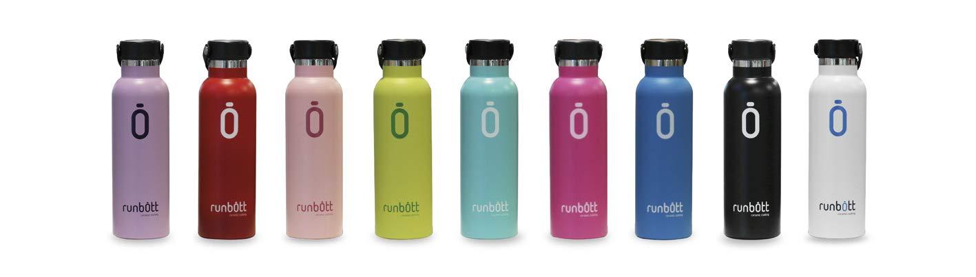 Acero t/érmico sin BPA con Recubrimiento Interno de cer/ámica Fucsia Runbott Botella Termo Ceramica