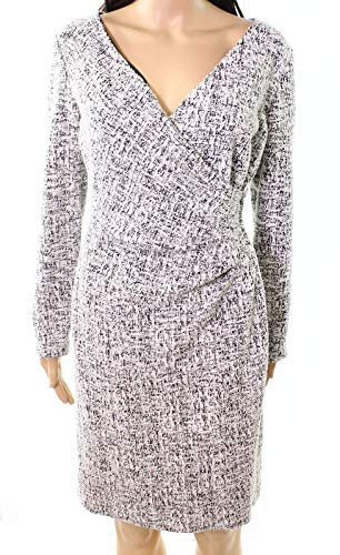 (Lauren by Ralph Lauren Women's Petite Tweed Dress White 0P)