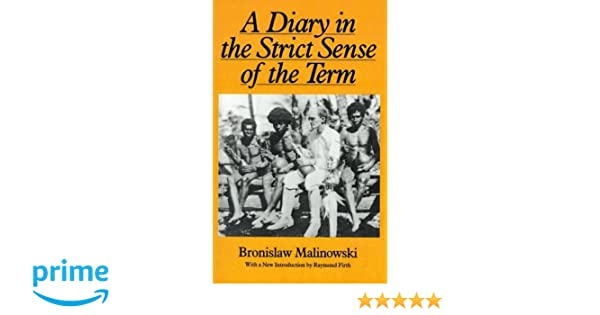 a diary in the strict sense of the term