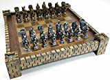 HPL King Arthur Camelot Knights Medieval Times Dragon Fantasy Chess Set W Castle Board 17'