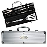 Massachusetts College Grill Master 3pc BBQ Set 'MCLA Engraved'