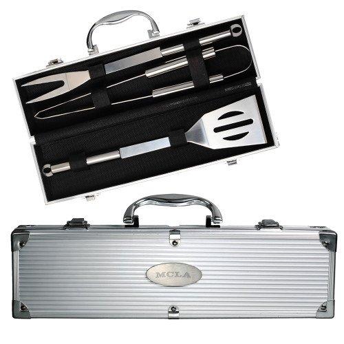 Massachusetts College Grill Master 3pc BBQ Set 'MCLA Engraved'