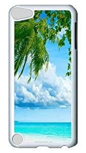 Specialdiy iPod Touch 5 case cover, Tropical Paradise Beach And Palm Tree PC Hard Plastic case cover for 9c7li5aRIsa Apple iPod Touch 5/ iPod 5th Generation White