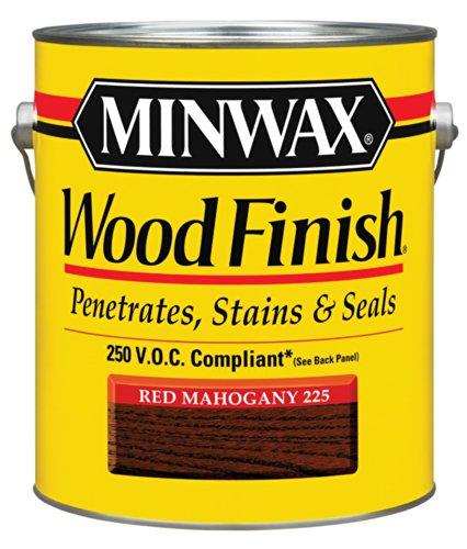 Voc Stain (Minwax 710770000 Wood Finish - Penetrates, Stains & Seals, 250 VOC, gallon, Red Mahogany)