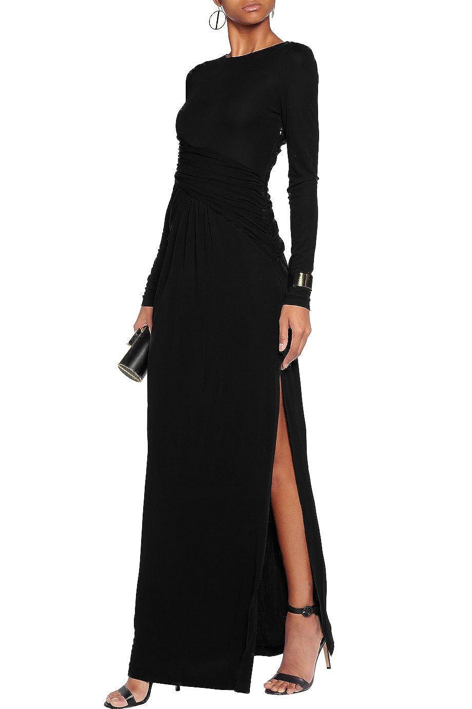 42a2f4d918 Amazon.com  Rachel Zoe Hopi Wrap-Effect Cutout Stretch-Jersey Maxi Dress  Black Size 2  Clothing