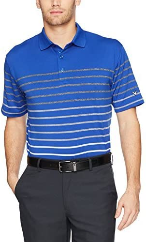 Callaway Mens Big /& Tall Opti-Soft Short Sleeve Heathered Solid Polo