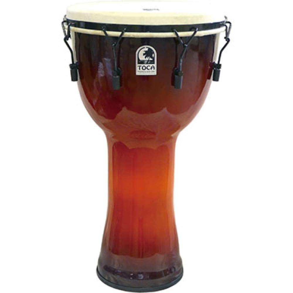 Toca Djembe Freestyle Mechanically Tuned African Sunset 14''