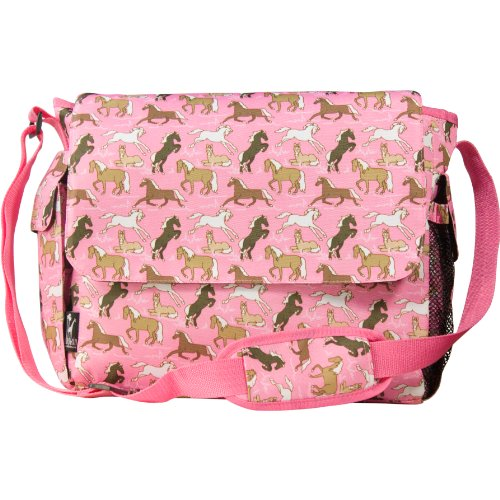 Wildkin 'Horses in Pink' Messenger Style Diaper Bag