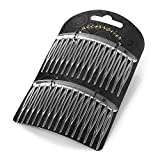 Two Piece Clear Sprung Teeth Hair Comb Sets 8cm