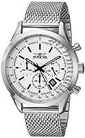 Invicta Men's Speedway Quartz Watch with Stainless-Steel Strap, Silver, 22 (Model: 25222)