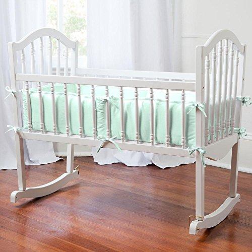 Carousel Designs Solid Mint Cradle Bumper
