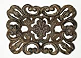 Aunt Chris' Products - Heavy Cast Iron - Flower Scroll Work - Counter Top Soap Dish - Victorian Style - Bronze Rustic Primitive