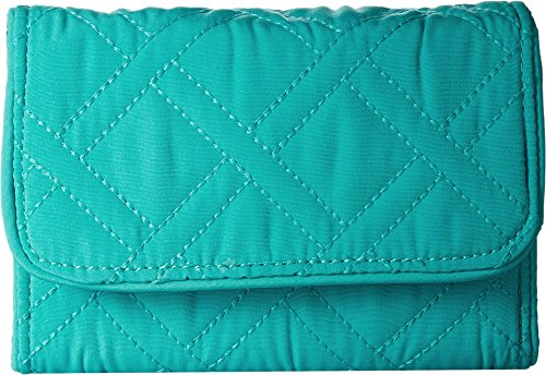 Rfid Riley Compact Wallet Wallet, Turquoise Sea, One Size